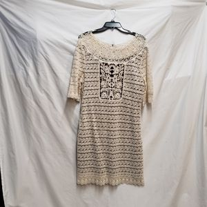 Laundry by Design Crocheted Ivory Dress